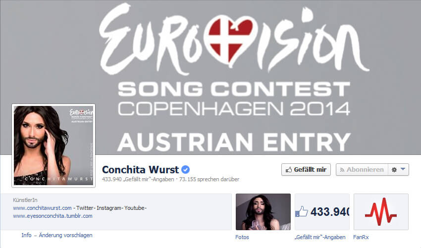 Facebook Conchita Wurst
