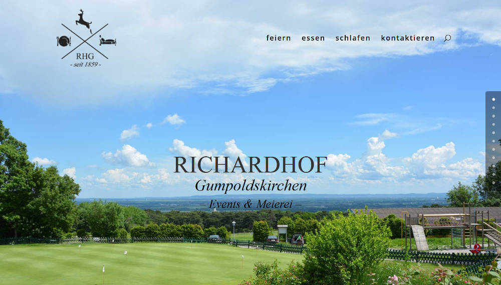 Screenshot www.richardhof.events