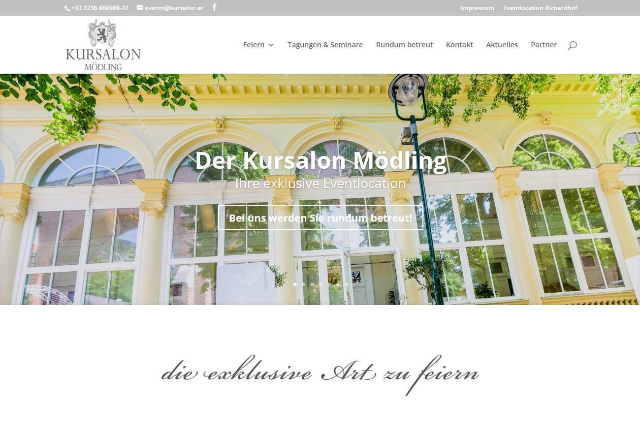 Screenshot Website Kursalon Mödling