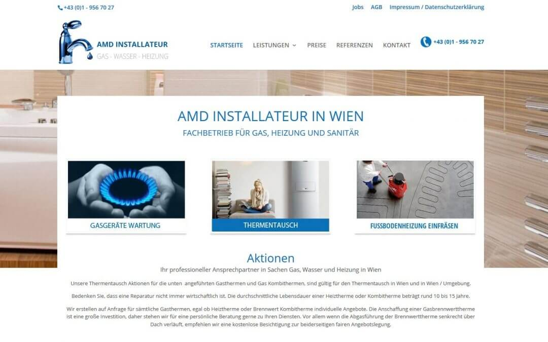 Website AMD Installateur