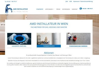 WordPress-Website AMD Installateur