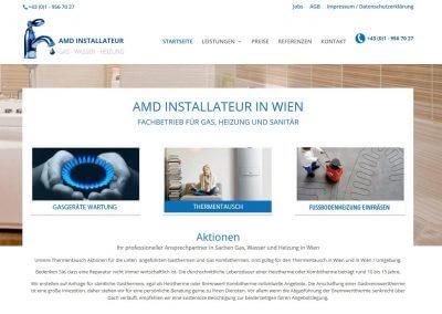 Website AMD Installateur