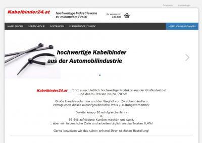 Migration Onlineshop Kabelbinder24.at
