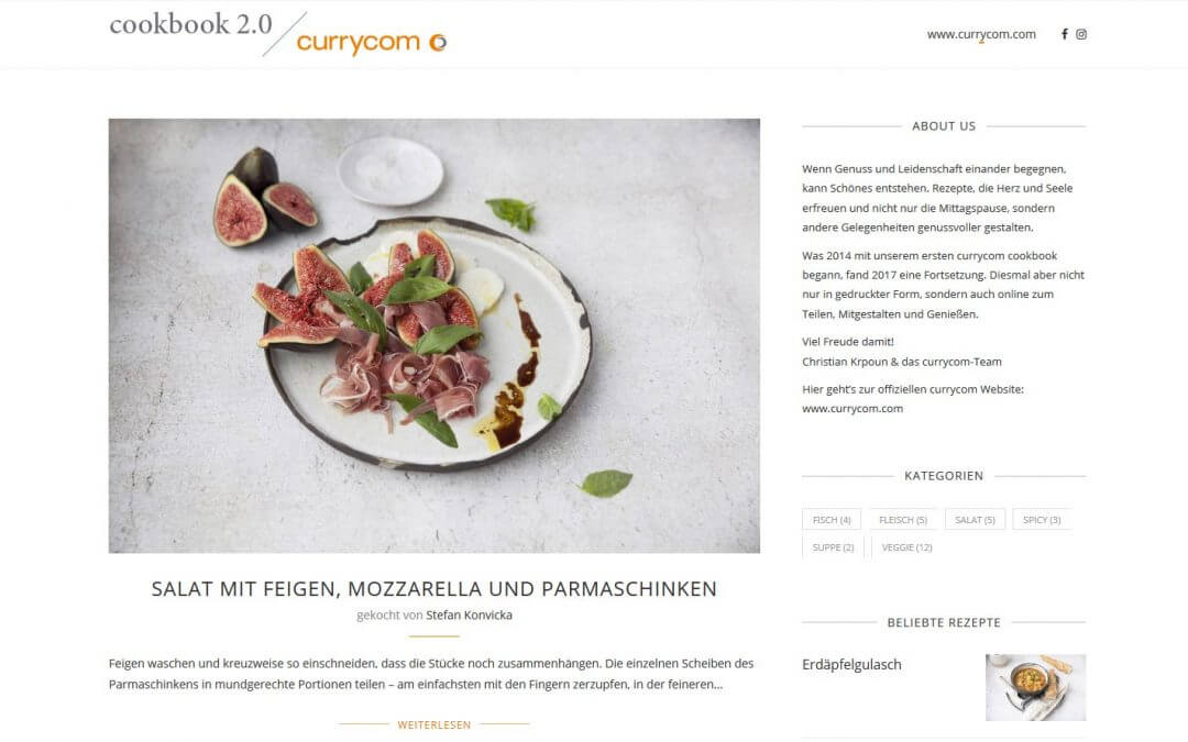 currycom Food-Blog mit WordPress