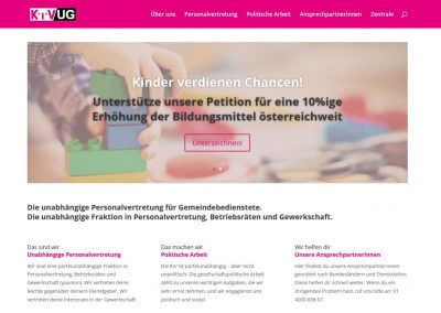 Relaunch Website KIV/UG