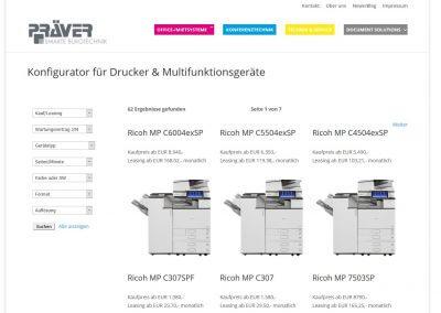 Screenshot PRÄVER Konfigurator