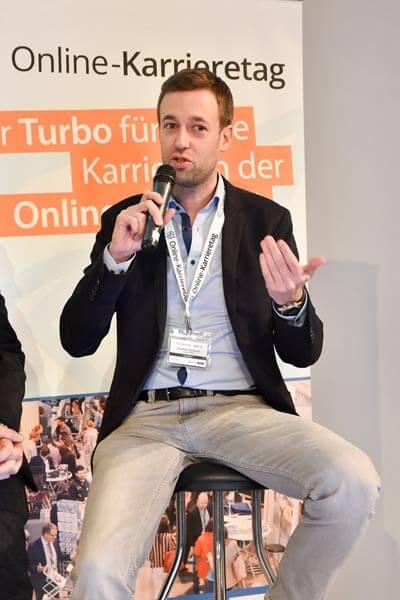 Manfred Machacek am Online-Karrieretag 2017 in Wien